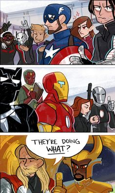 Meanwhile in Asgard - FunSubstance - Marvel Marvel Avengers, Marvel Comics, Marvel Heroes, Funny Marvel Memes, Marvel Jokes, Dc Memes, Avengers Memes, Funny Comics, Marvel Cinematic Universe