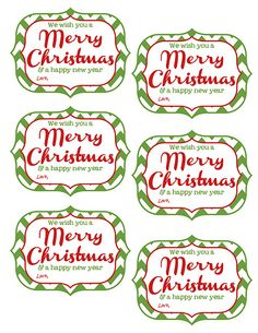 Free printable tags for cocoa gifts with room to pen in your own free printable tags we wish you a merry christmas and a happy new year solutioingenieria Images