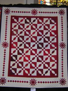 https://flic.kr/p/nTXp6 | Austria Exhibition - Red and White Two Color Quilt…