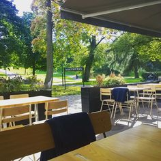 Our beautiful autumn terrace. #koffari | Southpark Restaurant / Ravintola Southpark, Helsinki Helsinki, Restaurant, South Park, Terrace, Canning, Beautiful, Modern, Table, Inspiration