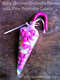 These baby shower umbrella candy favors are super quick and easy to make but oh so adorable! Check out the how to video tutorial.