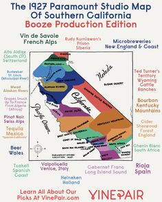Booze Production Edition: The 1927 Paramount Map Of Southern California