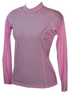 Womens Rash Guard - Long Sleeve Pink