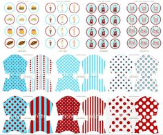 Retro Diner & Soda Shop EDITABLE text PRINTABLES Kit - as seen on HWTM. $30.00, via Etsy.