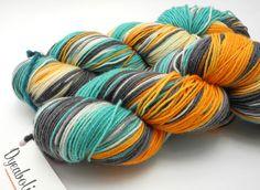 Sid Fishious - Hand Dyed Yarn - BFL HardTwist Sock Yarn - WONDERFUL COLORS!