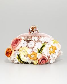 Miss Dea Lace & Floral Pouchette Clutch Bag by Dolce & Gabbana