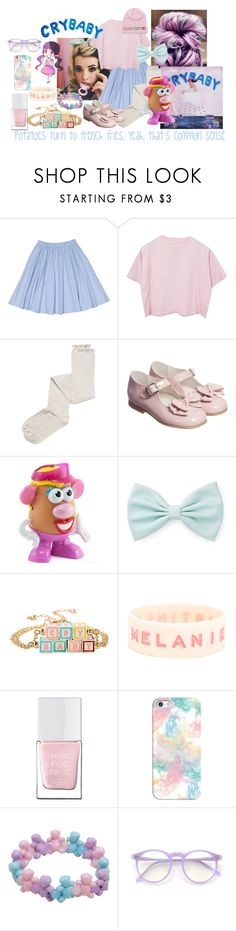 """""""Mrs. Potato Head- Melanie Martinez"""" by bandsvansandsodacans ❤ liked on Polyvore featuring Intimately Free People, Playskool, Forever 21, The Hand & Foot Spa, Casetify and Wildfox"""