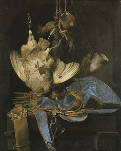 Still Life with Hunting Equipment and Dead Birds, Willem van Aelst, 1668