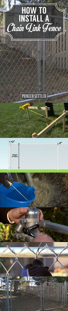 How to Install a Chain Link Fence by Pioneer Settler at http://pioneersettler.com/install-chain-link-fence/