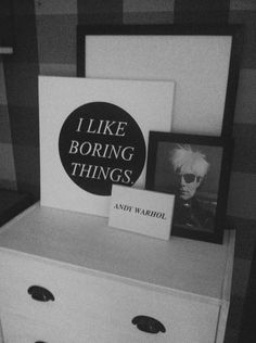 Andy Warhol quote  Ikea Rast Hack  white drawer black and white minimal design