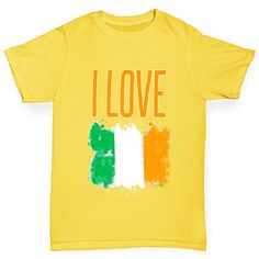 Twisted Envy Boys I Love Ireland Yellow TShirt Age 56 *** Check out this great product.