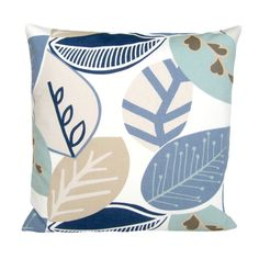 Contemporary Scandinavian Cushion Cover - 16 Inch Pillow - Nordic Fall Blue. $13.50, via Etsy.