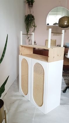 Fantastic Pics Make it boho: DIY Rattanschrank - IKEA IVAR HACK Ideas On one of my very frequent visits to IKEA I found cheaper missing platforms that were an ideal colo Furniture Makeover, Diy Furniture, Furniture Websites, Furniture Movers, Kirkland Home Decor, White Kitchen Decor, Kallax, Room Inspiration, Making Ideas
