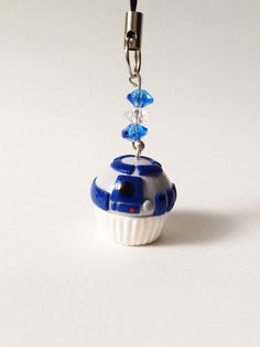 R2D2 Star Wars Inspired Cupcake Polymer Clay by PixieDustedCharms