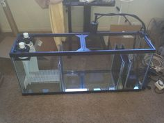 Currently working on setting up my first saltwater aquarium and taking some time to work on my sump design while my live rock is curing. Aquarium Sump, Aquarium Filter, Aquarium Fish, Saltwater Tank, Saltwater Aquarium, Planted Aquarium, Fish Tank Wall, Aquarium Cabinet, Reef Tanks