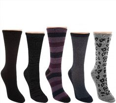 31.66$  Watch now - http://viaoe.justgood.pw/vig/item.php?t=olfoy5411444 - Cuddl Duds Plush Fill Mid-Weight Boot Socks Set 5 Pc Multi S/M W NEW A282382