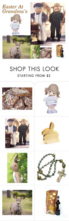 """Easter At Grandma's"" by juliaheartfelt on Polyvore featuring interior, interiors, interior design, home, home decor, interior decorating and Precious Moments"