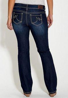 7eec1bdae31 New Maurices Womens Dark Wash Stretch Denim Comfortable Boot Cut Jeans  11 12 Reg