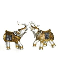 Look what I found on #zulily! Gold Elephant Figurine - Set of Two #zulilyfinds