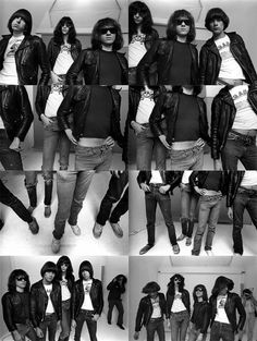 Ramones, photographed by Norman Seef in New York City, 1977.