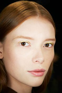 9 Go-To Trends, Upgraded For 2015 #refinery29  http://www.refinery29.com/new-beauty-trends-2015#slide-10  Now: Face Adhesives  Stickers are here to stay, but they're moving from your bod to your face. Dior debuted a press-on liner, Tommy Hilfiger sprinkled stars across models' faces, and Rodarte glued faux piercings to models' brows. All signals point to a serious move to facial decorating. It's like dress-up for your face!