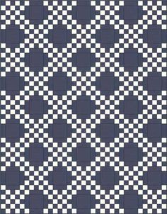 Double Irish Chain Quilt Pattern: Easy Quilt Block, Easy Quilt Pattern
