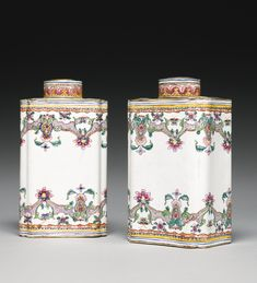 A PAIR OF CANTON ENAMEL TEA CANNISTERS,QING DYNASTY, 18TH CENTURY. Sotheby's