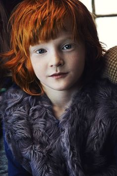 Danish child with red hair, ginger