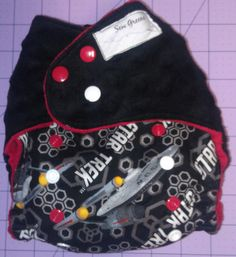 Star Trek and Minky Pocket Cloth diaper by SewGreene on Etsy, $18.00