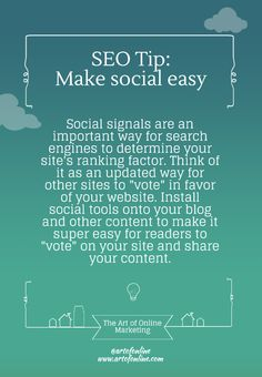 AOM's SEO tip: Add social sharing tools to your site if you haven't already. It's great for SEO in terms of social signals.