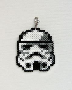 Star Wars, Stormtrooper pendant made out of Hama mini beads. Charm