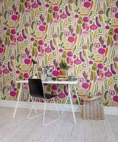 Hey, look at this wallpaper from Rebel Walls, Fruits & Roots! #rebelwalls #wallpaper #wallmurals