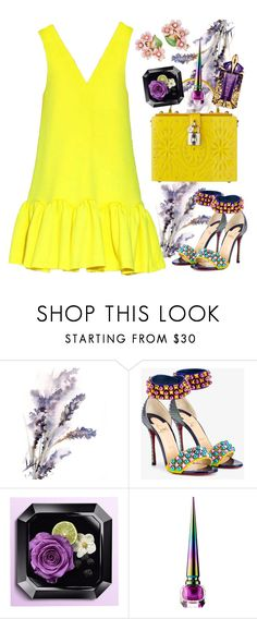 """Yellow dress"" by thestyleartisan ❤ liked on Polyvore featuring Christian Louboutin, Thierry Mugler and yellowdress"