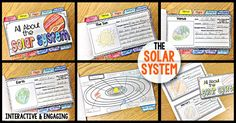 The SolarSystem Tab-Its Book: solar system activity, solar system project, all about the solar system, solar system tab-its Science Lessons, Science Activities, Writing Activities, Science Projects, Science Fun, School Projects, Science Ideas, Science Classroom, Earth Science