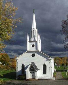 Beautiful White Church. Churches Calendars at http://scenic-calendars.com/religion/churches.htm
