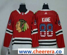 Men s Chicago Blackhawks  88 Patrick Kane Red With USA Flag 2017-2018 Hockey  Stitched NHL Jersey 2f8372c06