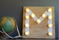Mason Jar Monogram | Mason Jar Crafts Love