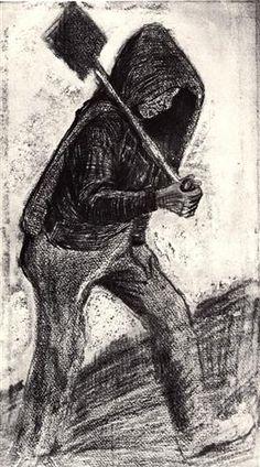 Coal Shoveler - Vincent van Gogh, 1879 - Pencil, chalk, ink on paper - Rijksmuseum Kröller-Müller, Otterlo, Netherlands