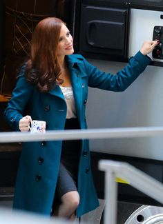 Molly's Game On Set - Jessica Chastain