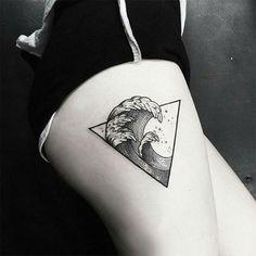 Pretty cool. #ink #tattoo #inked #art #waves #bodyart #legtattoo #leg #girl ##tattoos #tattooist #triangle #hipster                                                                                                                                                                                 More