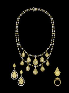 David Morris Yellow Diamond necklace
