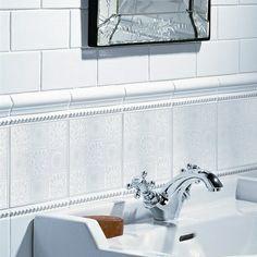 William De Morgan 9 Square White Wall Tile This Discreet Victorian Bathroom Differs Depending