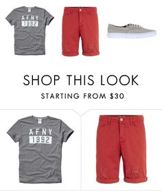 """""""North Italy #33"""" by kreepykitten on Polyvore featuring Abercrombie & Fitch, Topman, Vans, men's fashion and menswear"""