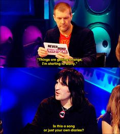 Rhod Gilbert & Noel Fielding - Never Mind the Buzzcocks Comedy Tv, Comedy Show, Rhod Gilbert, Mock The Week, British Comedy, British Humour, The Mighty Boosh, Noel Fielding, Television Program