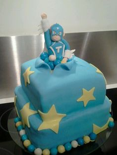 mega toby fondant taart, kids birthday cake