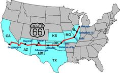 route 66 map | Route 66 - Archive Historic 66