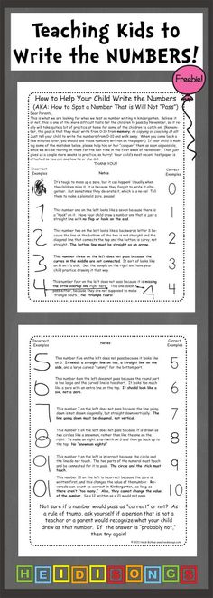 Teaching Kids to Write the Numbers- free downloadable guide for parents to help children at home. #kindergarten