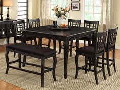 Counter Height Kitchen Table, Counter Height Dining Table, Wooden Counter, Solid Wood Dining Table, Extendable Dining Table, Round Dining Table, Dining Room Table, Lazy Susan Table, Black Kitchens