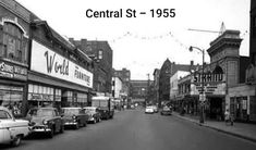 The block of Central Street, Lowell, MA