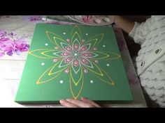 How to paint dot mandalas with Kristin Uhrig #39- Flower Power - YouTube
